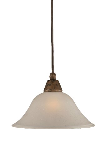 Toltec Lighting 22-BRZ-512 Cord Mini-Pendant Light Bronze Finish with Dew Drop Glass, 10-Inch