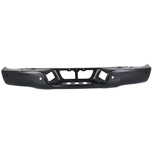 2009 Toyota Tundra Bumper - Rear Step Bumper Compatible with Toyota Tundra 2007-2013 Face Bar Only Black Steel Bumper with Pas with Rock Warrior Pkg. Fleetside