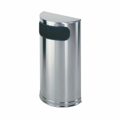 European Designer Metallic Half Round Receptacle Color: Satin Stainless Steel, Sand Urn: Not Included