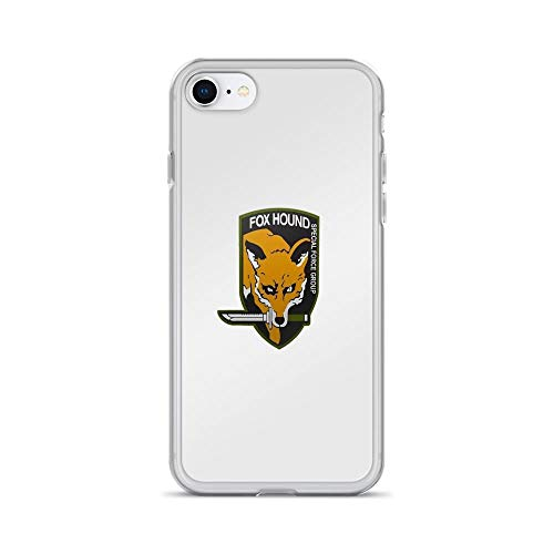 iPhone 7 Case iPhone 8 Case Cases Clear Anti-Scratch Fox Hound Special Force Group, Metal Gear Solid Cover Case for iPhone 7/iPhone 8, Crystal Clear -