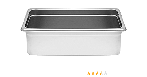 24 Gauge Anti Jam Steam Pans Stainless Steel Multiple Sizes Food Preparation Full Size 6 Deep 20 7 8 X 12 7 8 Kitchen Dining
