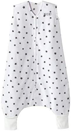 HALO Sleepsack Early Walker, Micro-Fleece, Mini Stars Charcoal, Size Large