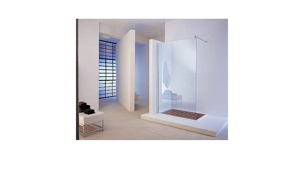 Mampara de ducha a la italiana fijo Open Side con vidrio transparente Securit 8 mm: Amazon.es: Bricolaje y herramientas