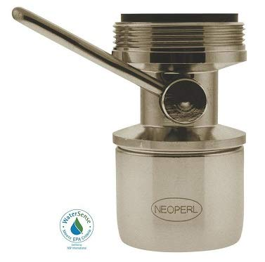 NEOPERL 1.5 PGM Dual-Thread On/Off Faucet Aerator in Brushed Nickel