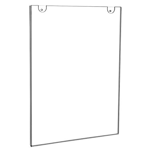 NIUBEE 3 Pack Wall Mount Sign Holder 11x14, Acrylic Door Sign Holder Poster Holder for Signage, Bonus with 3M Tape and Mounting Screws(3 Pack)