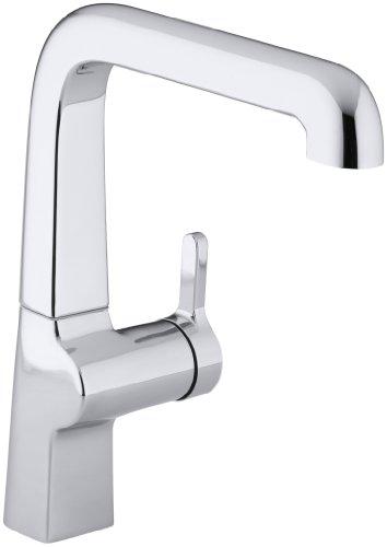 KOHLER K-6333-CP Evoke Single Control Kitchen Sink Faucet, Polished (Kohler Evoke Single)