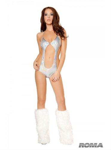 1pc Front Cutout Sequin Monokini (Cutout Swimming Costume)