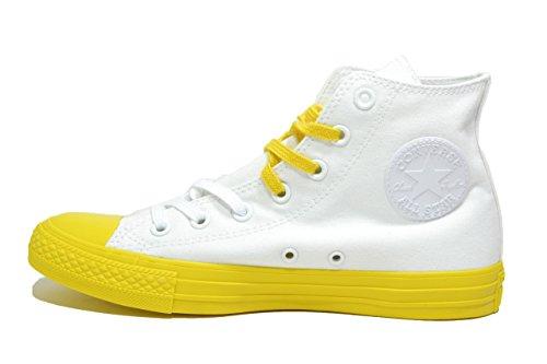 White Sneaker Bianco Giallo Converse Uomo Collo Alto 155738c a Black Yellow Fn8pw6
