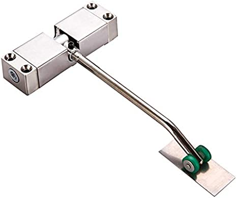 Hogar pequeño cierre de puerta simple amortiguador hidráulico automático abridor de puerta polea resorte cerrado.
