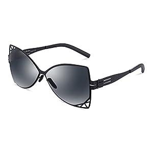 Sunglasses for Women,IDESIGN Fashion Sunglasses 62mm Nylon TR90 Lenses 100% UV Protection 400nm Non-Polarized Super Light Comfortable Eyeglasses