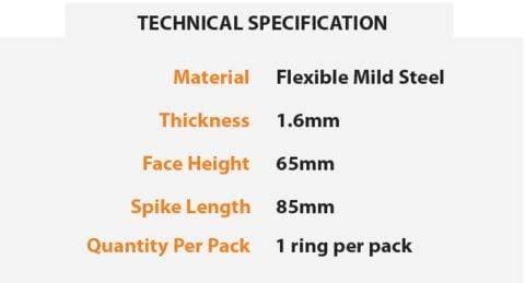 Core Landscaping 47 Inch Diameter CorTen Pre-Rolled Steel Tree Ring