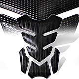 - 3D 4-Piece Customize Fuel Tank Pad Decal / Sticker Perforated Black w/Black Trim