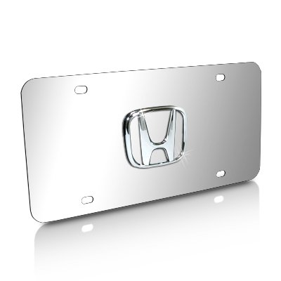 Honda 3D Logo Chrome Steel License Plate