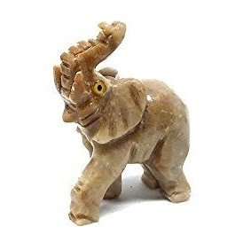 Nelson Creations Elephant Soapstone Animal Carving Charm Totem Figurine | (Animal Totems Elephant)