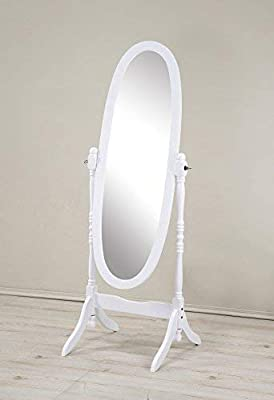 Roundhill Furniture Traditional Queen Anna Style Wood Floor Cheval Mirror