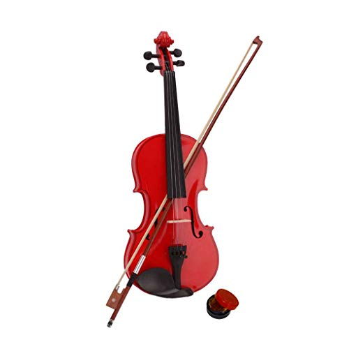 MuLuo 4/4 Full Size Wood Acoustic Violin Beginner Pack with Case Bow Rosin Set Gifts Red