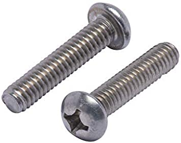 Fully Machine Thread 50 PCS by Eastlo Fastener 1//4-20 x 1//2 Truss Head Machine Screws Bright Finish 18-8 Stainless Steel 304 Phillips Drive