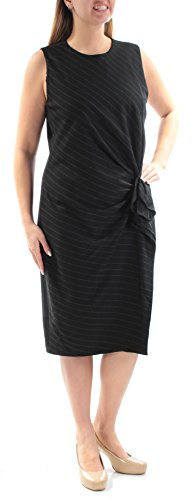 Lauren Ralph Lauren Womens Wool Pinstripe Wear to Work Dress Black 14 -