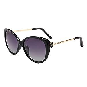ladies sunglasses female sunglasses tide direct D8050,C1-black box mercury