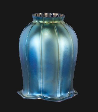 B&P Lamp Blue Iridescent