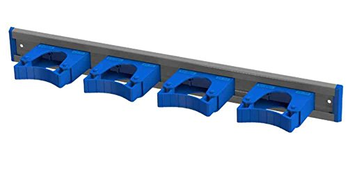 Toolflex Aluminum Rail 50cm (20 inch) with 4 Mounted Tool Holders Blue 5-0040-5