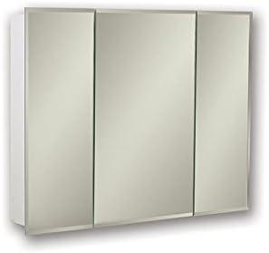 Jensen 255230X Tri-View Bevel Mirror Medicine Cabinet, 30 x 28.25