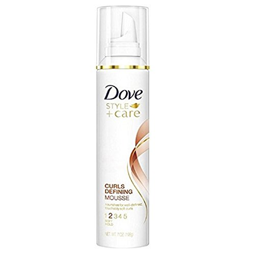 Dove STYLE+care Curls Defining Mousse, Soft Hold 7 oz (Pack of 3)