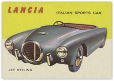 1953-topps-world-on-wheels-r714-24-non-sports-card-10-lancia-sports-car-ex-condition