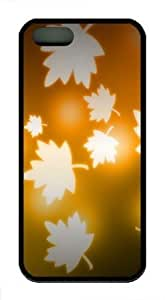 Beautiful Maple Leaf TPU Case Cover For iPhone 5 and iPhone 5S Black