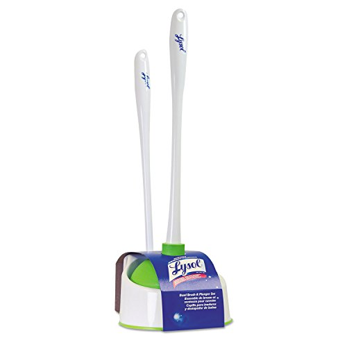 Lysol Toilet Bowl Brush with Plunger and Caddy by Quickie