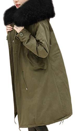 security Women Winter Puffer Down Faux Fur Hood Oversized Thick Jacket Coat 1