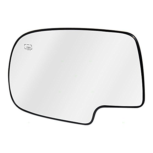 Drivers Power Side View Mirror Glass and Base Heated Replacement for Chevrolet Cadillac GMC Pickup Truck SUV 88986362 (View Side Driver Mirror)
