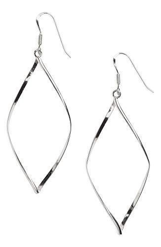 Argento Vivo Silver SS Marquise Dangle Drop Earrings