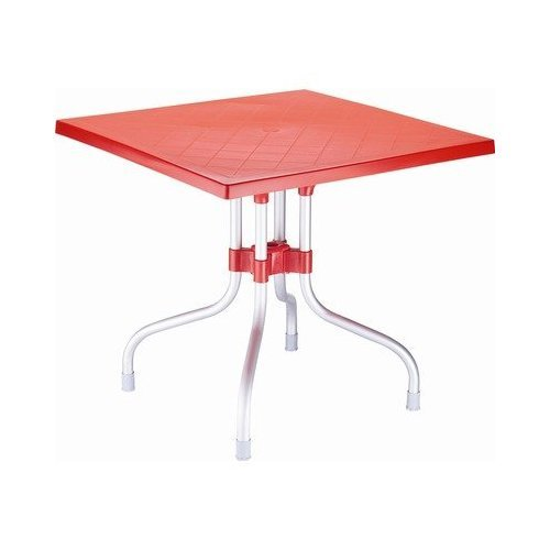 Cheap Compamia Forza Red Square Folding Table 31 Inch