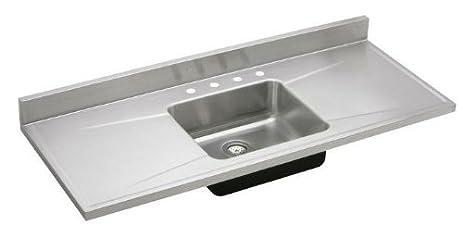 elkay s54194 s5419 gourmet lustertone 54 inch x 25 inch single basin stainless steel elkay s54194 s5419 gourmet lustertone 54 inch x 25 inch single      rh   amazon com