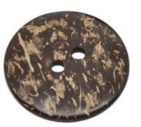 Pack de 5 botones coser capa coco 2 agujeros marron 38mm, recortes, embellecedores,