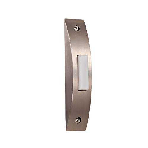 Contemporary Doorbell - Craftmade BSCS-BN Designer Surface Mount Contemporary Lighted Doorbell LED Push Button, Brushed Nickel (4.13