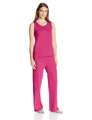 Amazon Essentials Women's 100% Cotton Sleeveless Pajama Set, Pink, X-Large