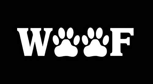 Makarios LLC Woof Paws Dog Cute Cars Trucks Vans Walls Laptop MKR| White |5.5 x 1.25|MKR902