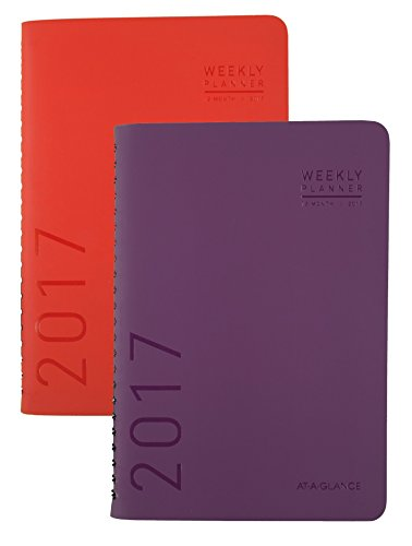 "AT-A-GLANCE Weekly / Monthly Planner / Appointment Book 2017, 4-3/4 x 8"", Fashion, Color Selected For You May Vary (70-108X-00)"