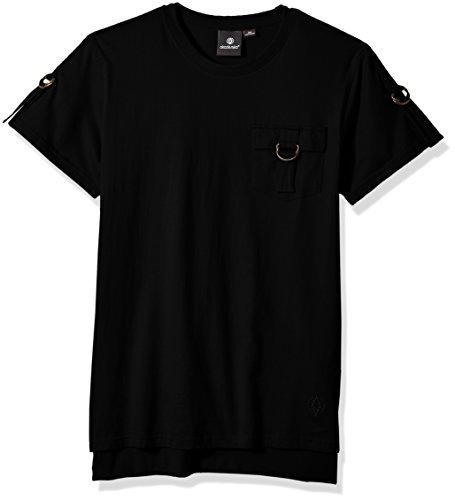 And shirt 1 Kectelly Hoorah Men's Slub T Tall Noir Big EwwfB1