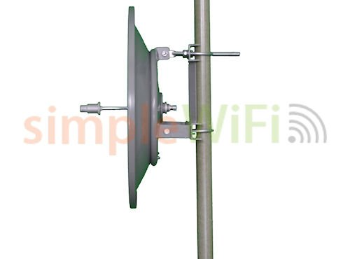 Parabolic 30dBi Dish 5GHz Antenna Single Polarity