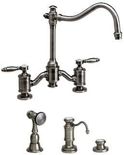 product image for Waterstone 6200-3-AP Annapolis Bridge Faucet - Lever Handles 3pc. Suite Antique Pewter