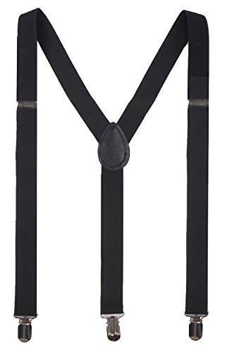 JIERKU Mens Braces for Trousers Black Men's Suspenders for Men Braces Black from JIERKU