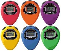 Ultrak 310 Event Timer Sport Stopwatch (Set of 6 Rainbow Colors)