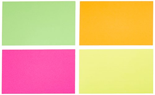 AmazonBasics Ruled Index Cards, Assorted Neon, 3x5-Inch, 300-Count Photo #2