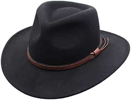 b2914bdef58 Men s Outback Wool Cowboy Hat Denver Crushable Western Felt by Silver Canyon