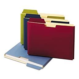 Expanding File Folder Pocket, Letter, 11 Point Stock, Assorted, 10/Pack, Sold as 1 Package