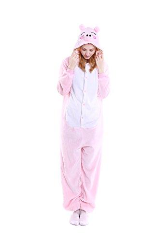 Peppa Pig Adult Costumes (Yutown Unisex-adult Animal Onesie Pajamas Kigurumi Cosplay Costume Peppa Pig S)