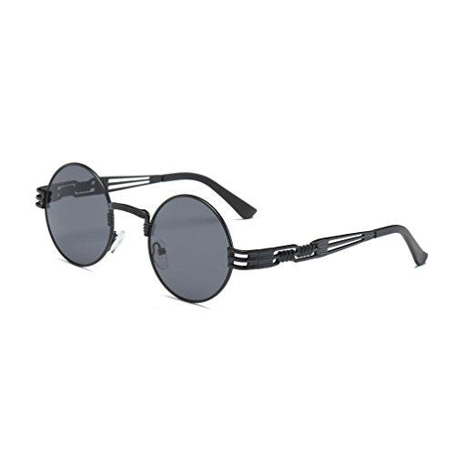 Ben Sherman Conique Metal Temple lunettes de soleil aviateur en argent mat BEN005 One Size Gradient Grey 3t9ER06X2K